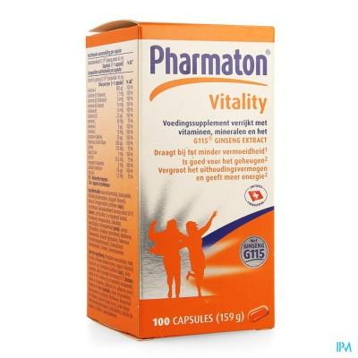 Pharmaton Vitality Capsules Nf Caps 100