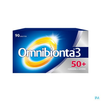 Omnibionta3 50+ Multivitamines voor Vitaliteit  met Ginseng (90 tabletten)