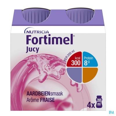 Fortimel Jucy Aardbei Cluster 4x200ml 65462