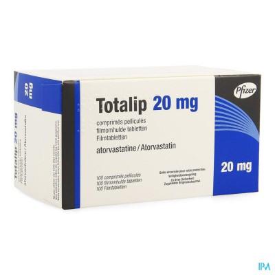 Totalip 20mg Pfizer Filmomh Tabl 100 X 20mg