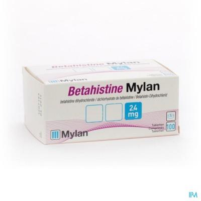 Betahistine Mylan 24mg Comp 100 X 24mg