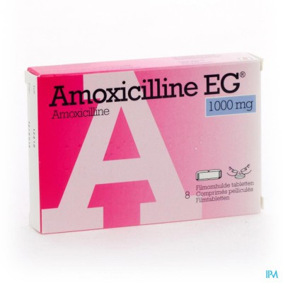 Amoxicilline Eg Comp 8 X 1g