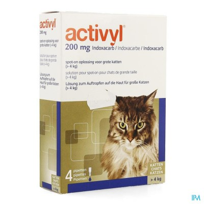 Activyl Spot-on Opl. Grote Katten Pipet 4x200mg