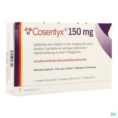 Cosentyx 150mg/ml Opl Inj Voorgev.spuit 2 X 1ml