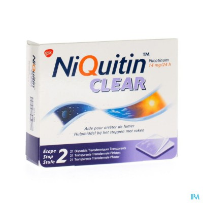 Niquitin Clear Patches 21 X 14mg