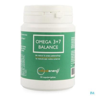 Omega 3+7 Balance Natural Energy Caps 90