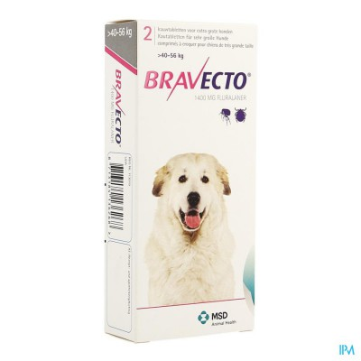 Bravecto Kauwtabletten Hond 2x1400,0mg
