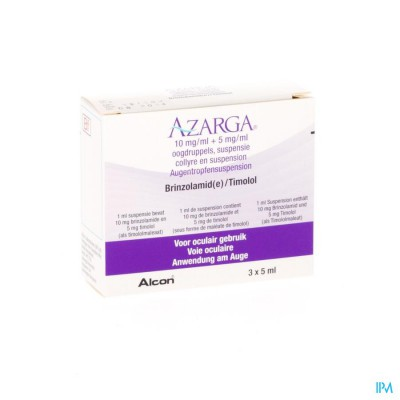 Azarga Collyre Susp. 3 X 5ml
