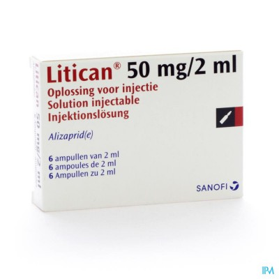 Litican Amp Inj 6 X 50mg/2ml