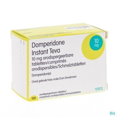 Domperidone Instant Teva Comp Orodisp 100 X 10mg