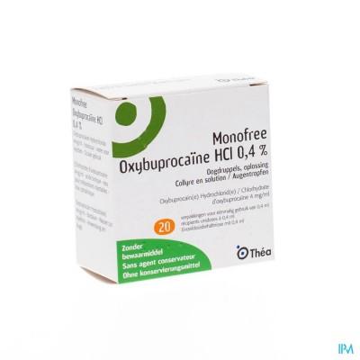 Monofree Oxybuprocaine Ud 20x0,4ml