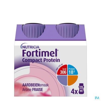 Fortimel Compact Protein Aardbei Flesjes 4x125 ml