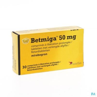 Betmiga Tabl 30 X 50mg
