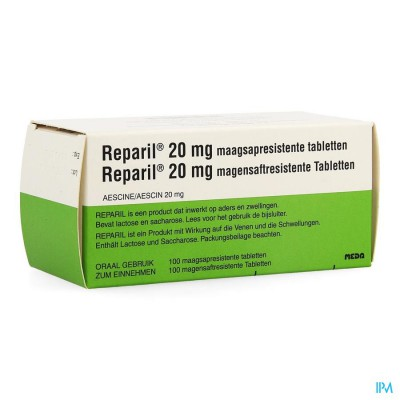 Reparil Comp Gastroresist 100 X 20mg
