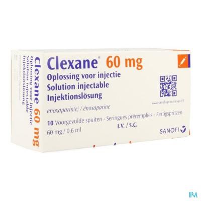Clexane Spuit Inj 10 X 60mg/0,6ml