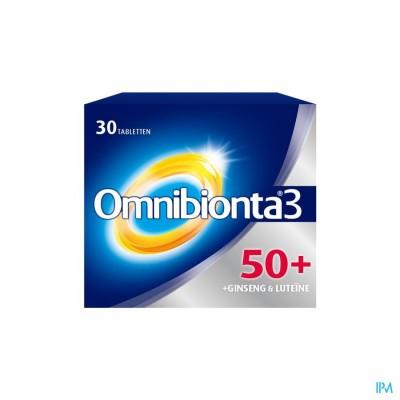 Omnibionta3 50+ Multivitamines Vitaliteit met Ginseng (30 tabletten)