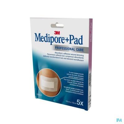 Medipore + Pad 3m 10x10,0cm 5 3566p