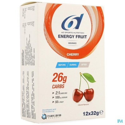 6d Energy Fruit Cherry 12x32g