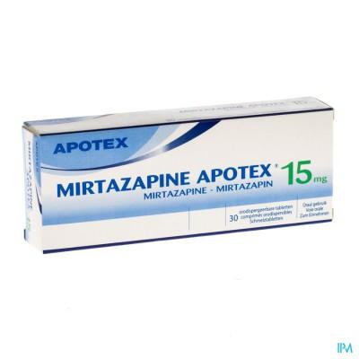 Mirtazapine Apotex 15mg Comp Orodisp 30