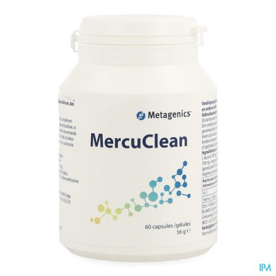 Mercuclean Pot Caps 60 3734 Metagenics