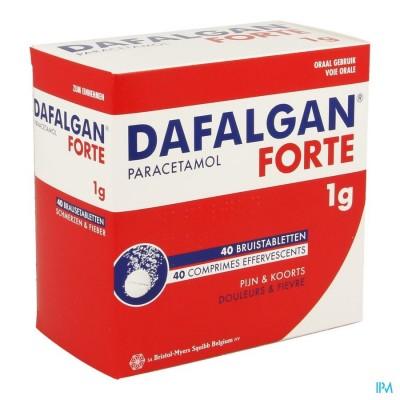 Dafalgan Forte 1g Bruistabletten 40