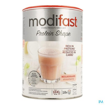 Modifast Protiplus Milkshake Aardbei 540g