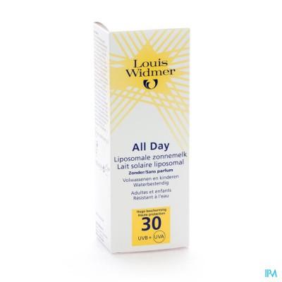 Widmer Sun All Day 30 N/parf Tube 100ml