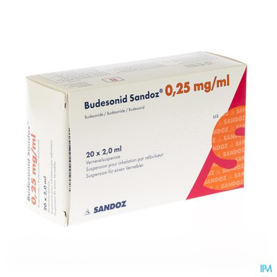 Budesonid Sandoz 0,25mg/ml Vernevelsusp 4x5 Amp