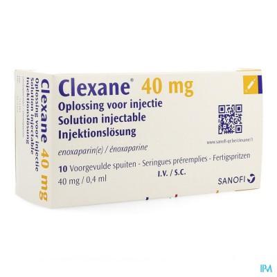 Clexane Spuit Inj 10 X 40mg/0,4ml