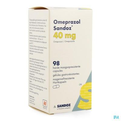 Omeprazol Sandoz Caps Enter 98 X 40mg