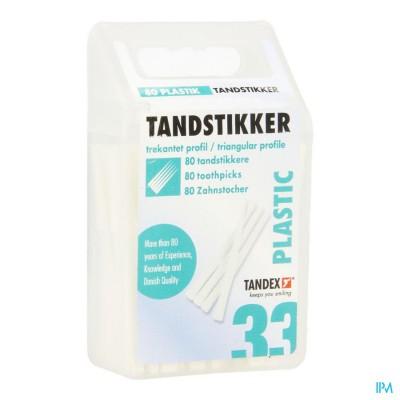 Tandex Toothpicks Plastic 80