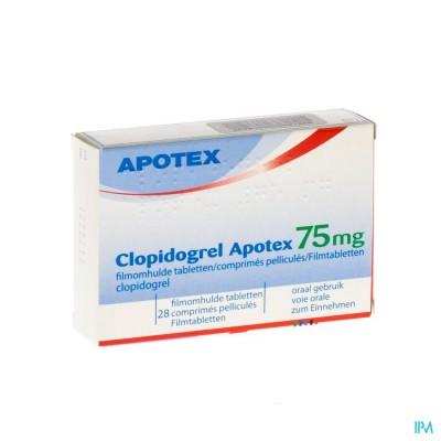 Clopidogrel Apotex 75mg Filmomh Tabl 28 X 75mg