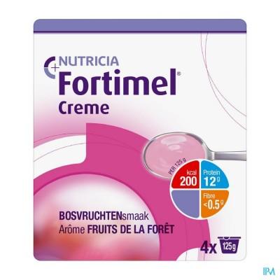 Fortimel Creme Bosvruchten 4x125gr