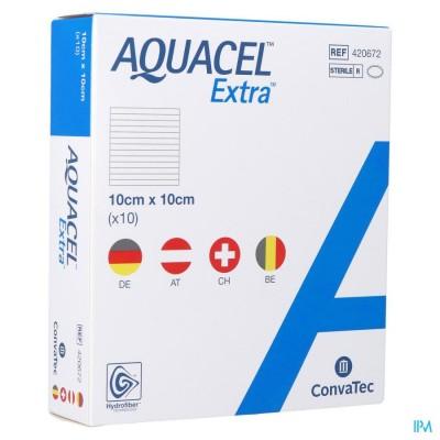 Aquacel Extra Verb Hydrofiber+versterk. 10x10cm 10