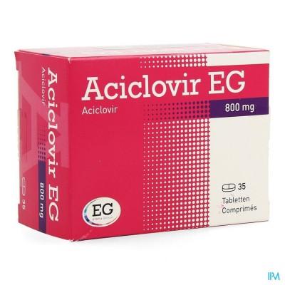 Aciclovir Eg 800 Comp 35 X 800mg