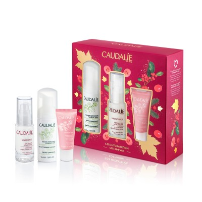 Caudalie Set Vinosource Serum Kerst 3 Prod.