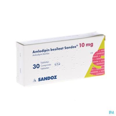 Amlodipine Besilaat Sandoz C0mp 30x10mg