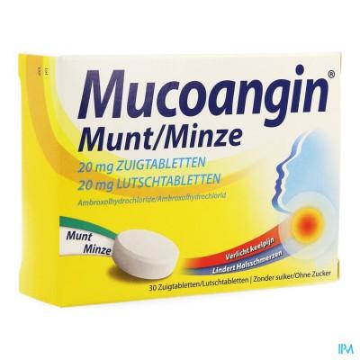 Mucoangin Munt Zuigtabletten 30x20mg