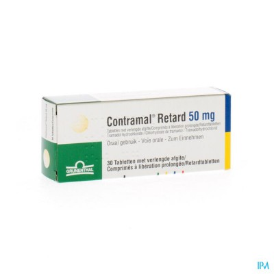 Contramal Retard 50mg Comp 30