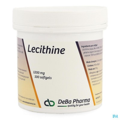 Lecithine Caps 100x1200mg Deba