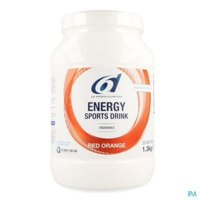 6d Sixd Energy Sports Drink Red Orange Pdr 1,3kg