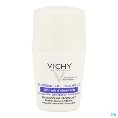 Vichy Deo React. H Z/alu Zout Roller 24u 50ml