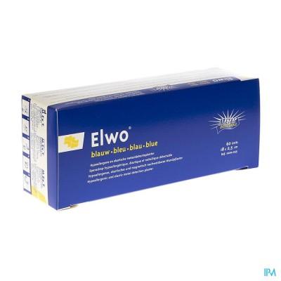Elwo Pleister Elast Blauw 2,5cmx18cm 60 0020035
