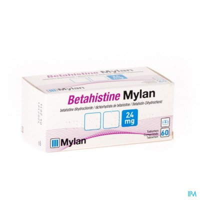 Betahistine Mylan 24mg Comp 60 X 24mg