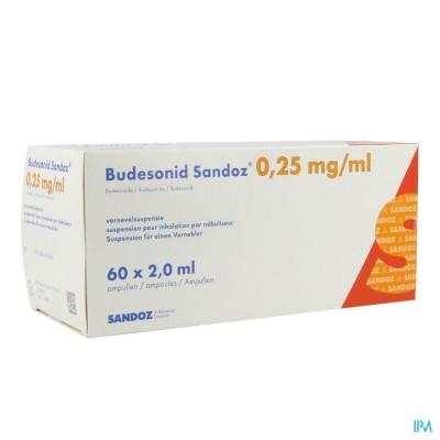 Budesonid Sandoz 0,25mg/ml Vernevelsusp Amp 60