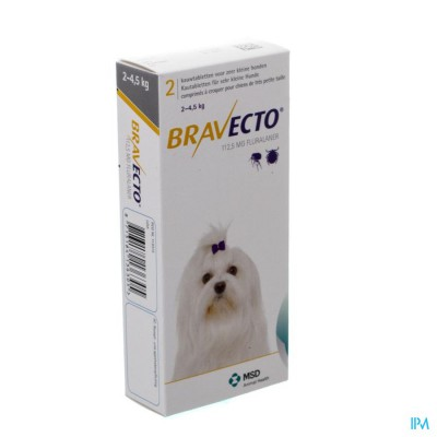 Bravecto Kauwtabletten Hond 2x 112,5mg