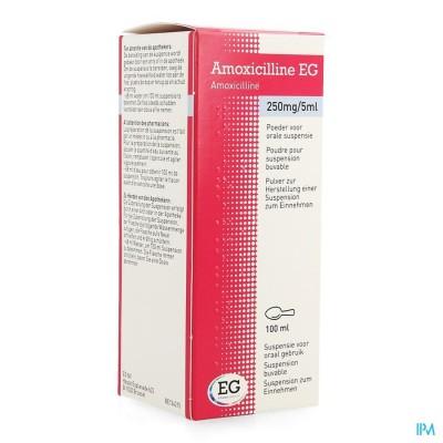 Amoxicilline Eg Sir 100ml 250mg/5ml
