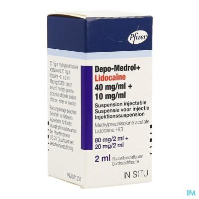 Depo-medrol Lidoc 80mg Vial 40mg/ml 1 X 2ml