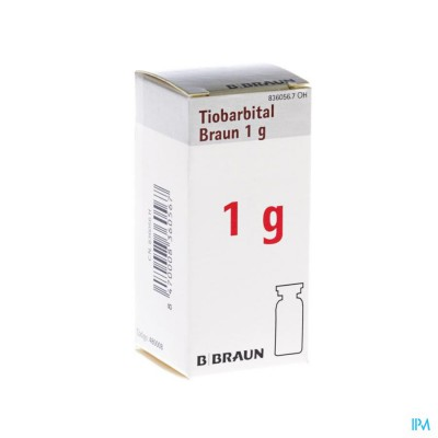 Tiobarbital Braun 1g Poeder Vr Opl Inj 1x1,0g