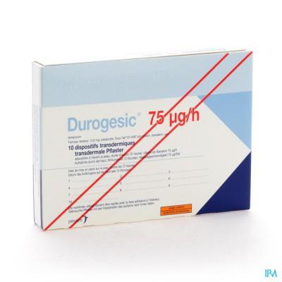 Durogesic Pl Emp 10x 75mcg/heure/uur